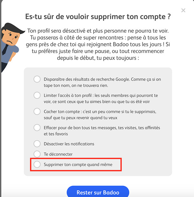 Rencontre dating supprimer compte