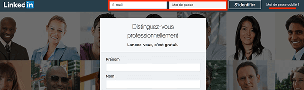 comment se connecter à LinkedIn