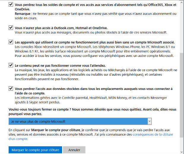 suppression compte hotmail msn