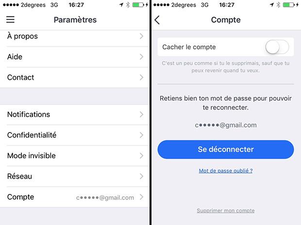 comment supprimer un compte badoo sur smartphone