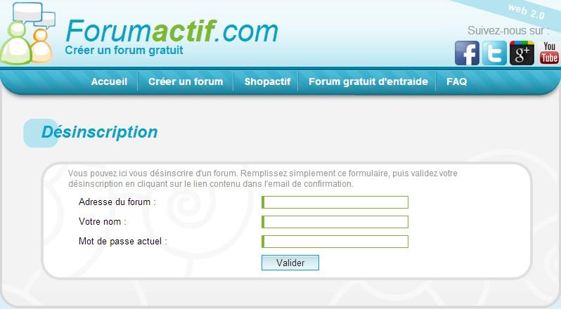 supprimer un compte forum actif
