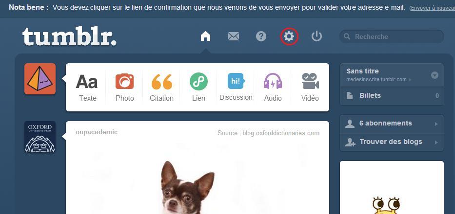 Supprimer votre blog tumblr
