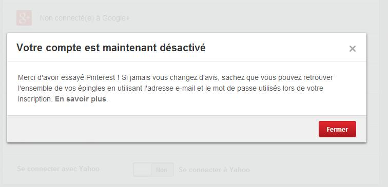 Supprimer son compte tumblr