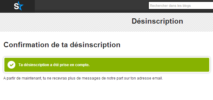 confirmation désinscription emails skyrock