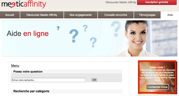 contact service client meetic affinity