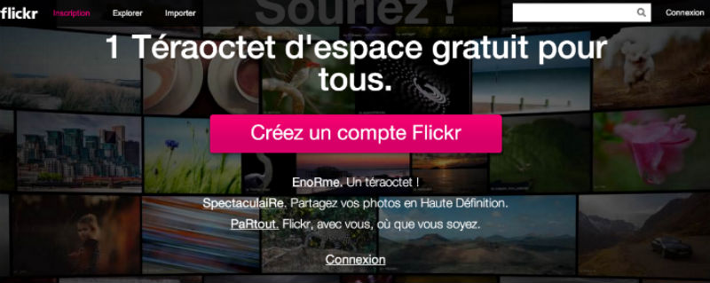 se connecter à son profil Flickr