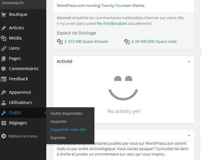 comment fermer blog wordpress
