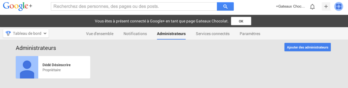 roles d'administration google plus
