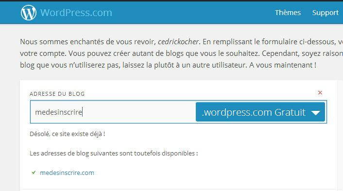 supprimer adresse site wordpress