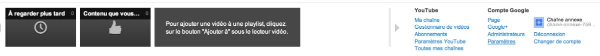 accéder paramètres youtube