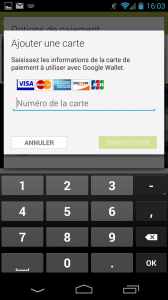 ajouter carte bancaire android google play