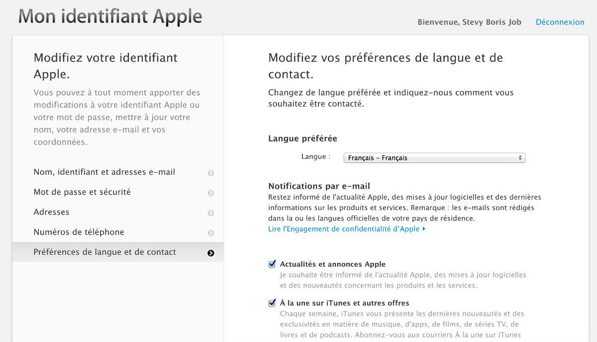 comment effacer son profil apple