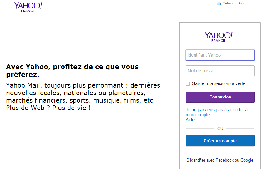 procédure de désinscription Yahoo