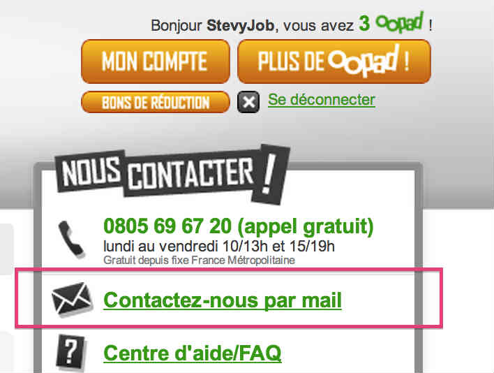 supprimer son compte Oopad