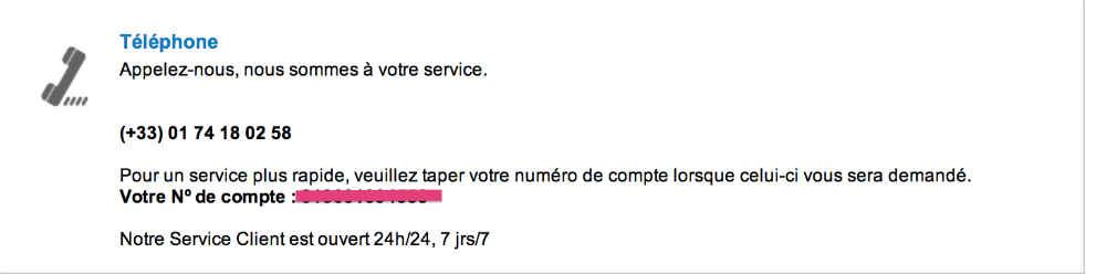contact téléphone service client vistaprint