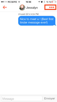 supprimer un message tinder
