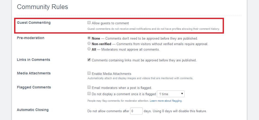 bloquer commentaires invité disqus