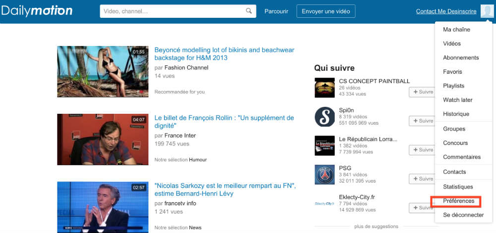 supprimer dailymotion