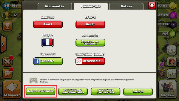 recuperer sauvegarde clash of clans