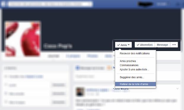 supprimer ami facebook