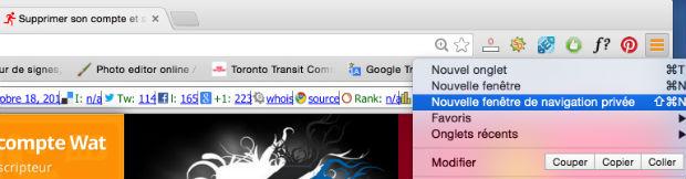 comment naviguer en privé sous google chrome