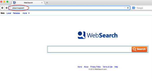 supprimer web search