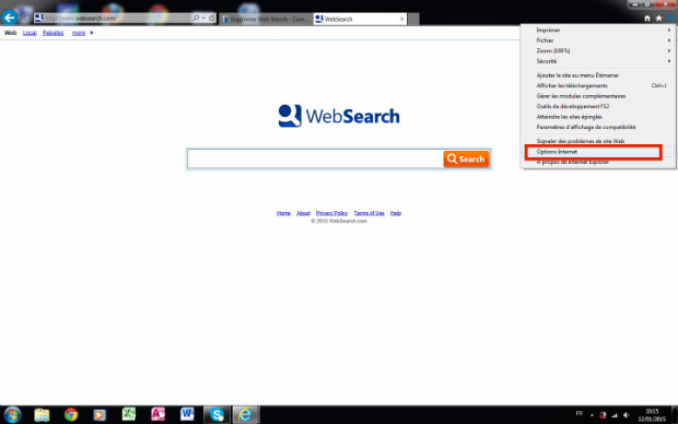 comment supprimer web search sur internet explorer