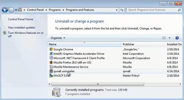 desinstaller malware qone8