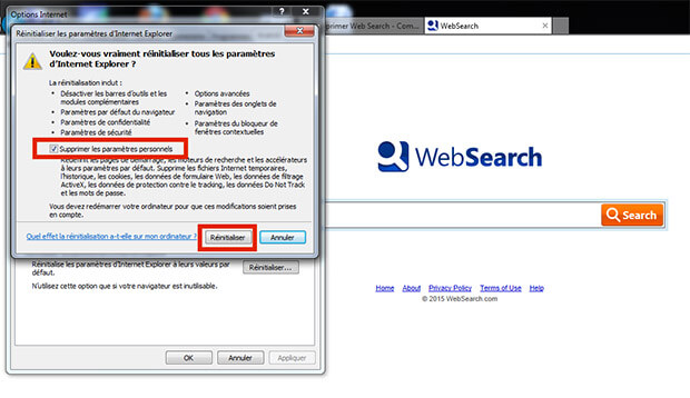 comment supprimer websearch d'internet explorer
