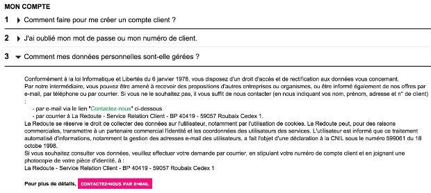 comment contacter le service client la redoute