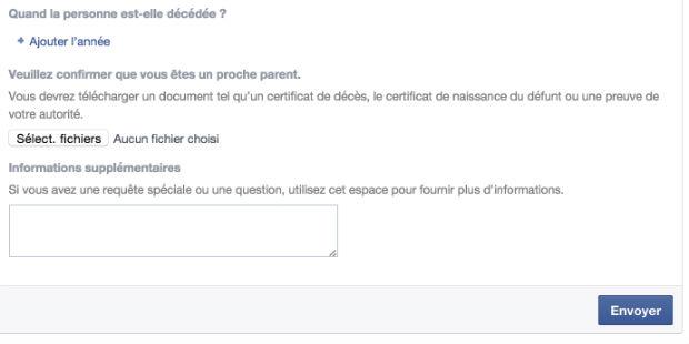 comment signaler un profil facebook d'une personne décédée