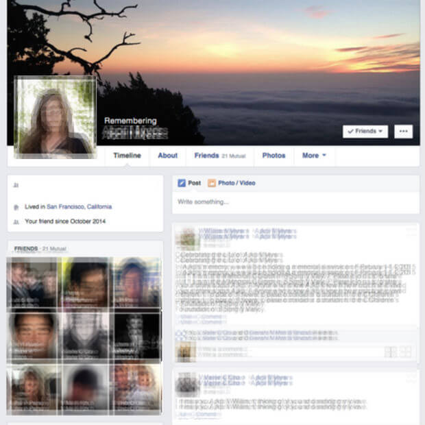Supprimer le compte facebook d'une personne décédée