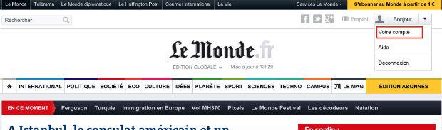 comment supprimer un compte Le Monde