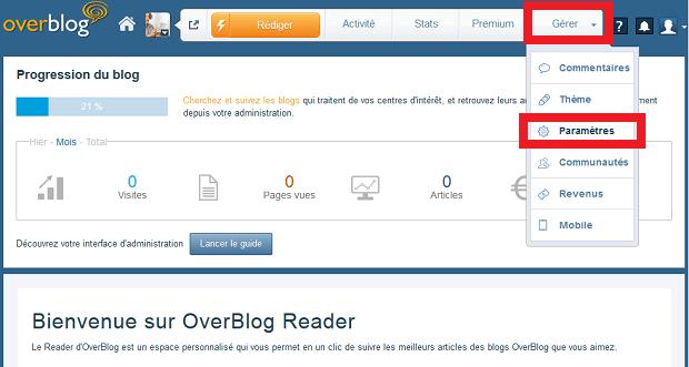 parametre compte overblog