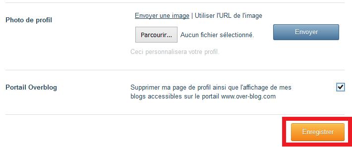 supprimer page overblog