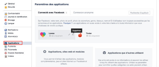 Application rencontre via facebook