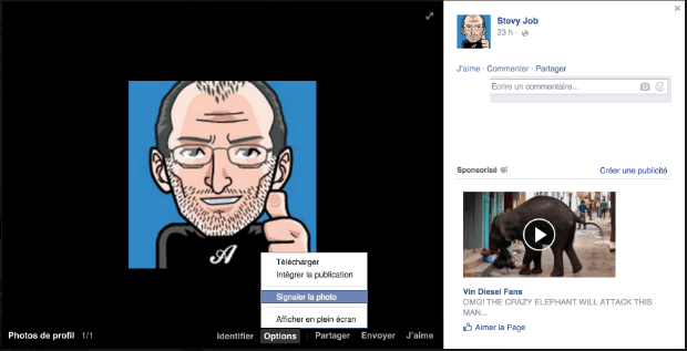 comment effacer une photo facebook