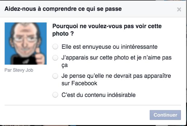 comment supprimer un photo d'un autre sur facebook