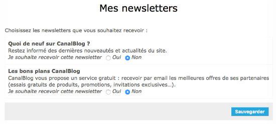 gerer newsletter canalblog