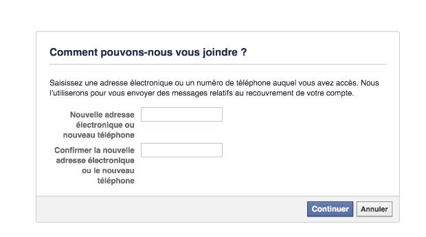 comment récupérer un compte Facebook