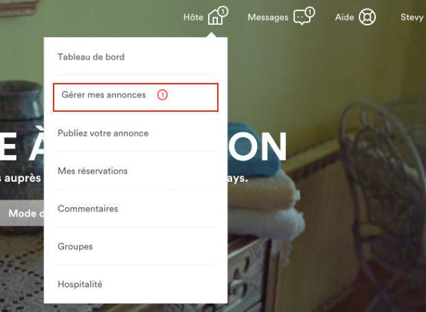 supprimer une annonce sur airbnb