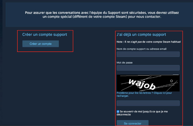 comment contacter steam