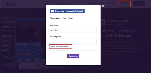 supprimer un compte twitch