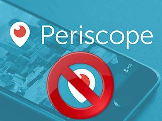 supprimer compte Periscope