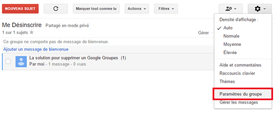 comment supprimer groupe google groupes
