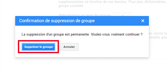 desinscription google groupes