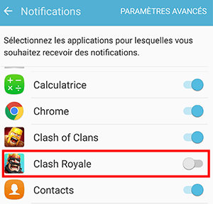 desactiver les notifications