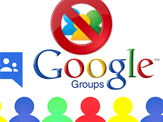 Supprimer un groupe Google Groupes