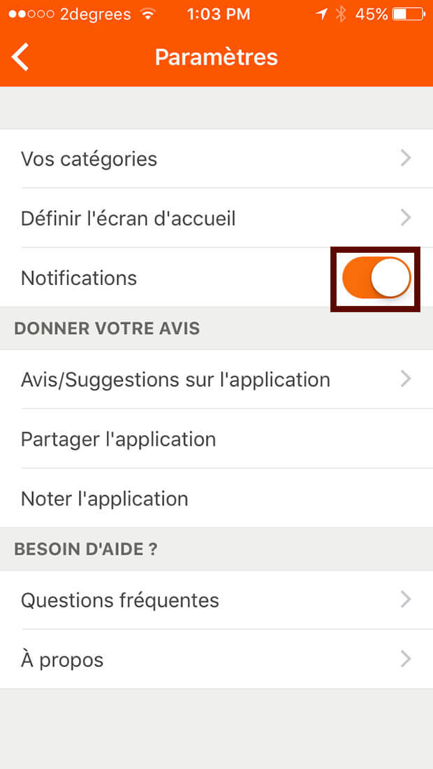 supprimer l'application Radins