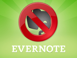 Supprimer un compte Evernote